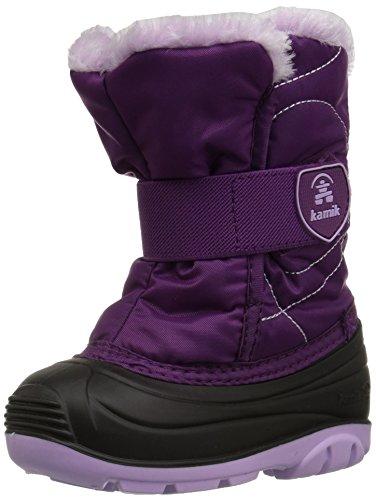 (Kamik Girls' SNOWBUGF Snow Boot, Grape, 6 Medium US Toddler)