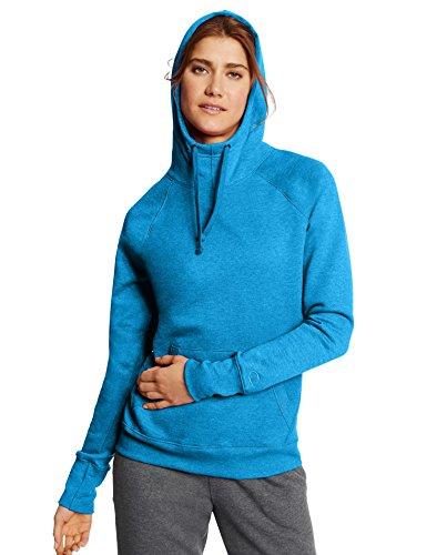 Champion W0934 Fleece Pullover Hoodie - Underwater Blue Heather - S W0934