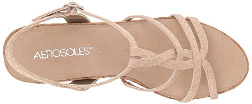 Aerosoles Women's Wedge Song Sandal Snake Pink Plush 60U6g8qrnw