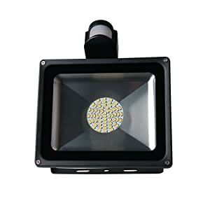 PIR Motion Outdoor Economical Energy-saving Induction Waterproof Floodlight Spotlight Outside Led Light (50w, Warm White)