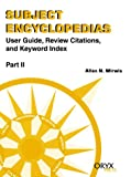 Subject Encyclopedias, Allan N. Mirwis, 1573561991