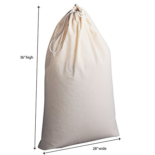 Household Essentials Extra Large Natural Cotton Laundry Bag, Beige