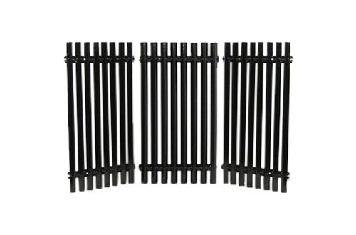 Porcelain Cooking Grid (Music City Metals 50193 Porcelain Steel Channel Cooking Grid Replacement for Gas Grill Model Charbroil 463440109, Set of 3)