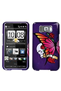 HTC HD2 Graphic Case - Purple with Butterfly