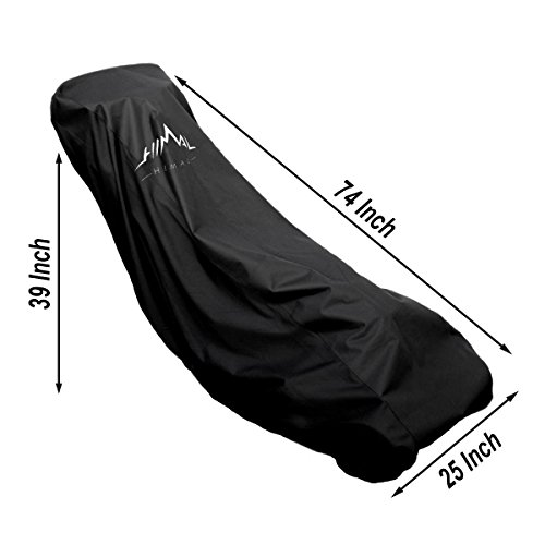 Himal Lawn Mower Cover – Heavy Duty 600D Polyester Oxford Waterproof, UV Protection Universal Fit with Drawstring & Cover Storage Bag