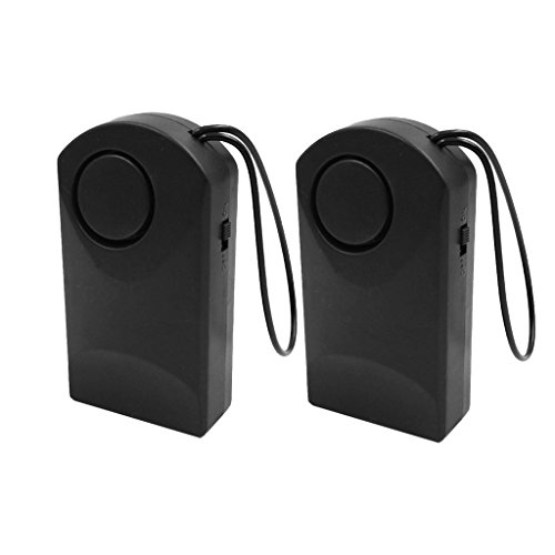 B Blesiya 2PCS Wireless Battery Operated Door Alarm Door Handle Knob Hanging Alarm Motion Detector Black by B Blesiya