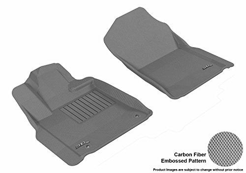 M-598) Gray Kagu Carbon Fiber Embossed Pattern Floor Mat Front Row (POST) for TOYOTA TUNDRA REG/DBL CAB/CREWMAX 12-18 ()