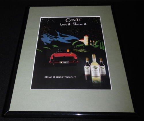 2016 Cavit Wine Pinot Noir Grigio 11X14 Framed Original Advertisement