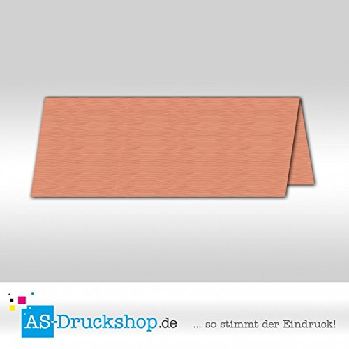 Große Tischkarte Platzkarte - Salm - mit Strukur 100 Stück 13,2 x 5,1 cm B079PZH7ZR | Zuverlässige Qualität