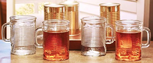 Circleware 04430/AM Huge Set of 12 Mason Jar Mugs in Fun Can Shaped Glasses Home and Kitchen Farmhouse Glassware Décor Drink Tumblers for Water, Beer, Whiskey and Cold Beverages, 17.5 oz, Clear by Circleware (Image #4)