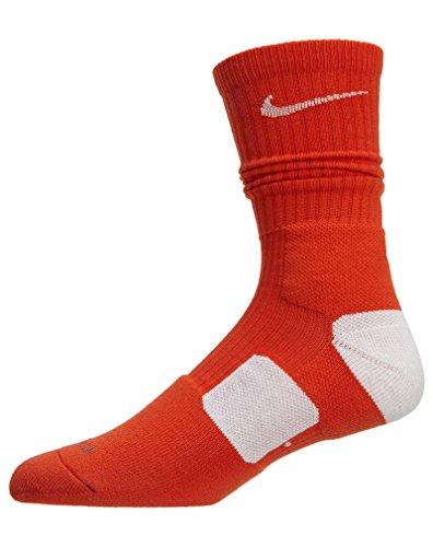 Nike Calzini da basket Unisex adulto Elite Anaranjado de uniforme/Blanco