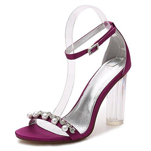 Diamante De La con 13 La Plataforma De De La Zapatos Alto Purple Mujer De De Y2615 La TacóN Artificiales Boda áSpera Boda Zapatos Corte De Cristal Perlas w6TC0n08B