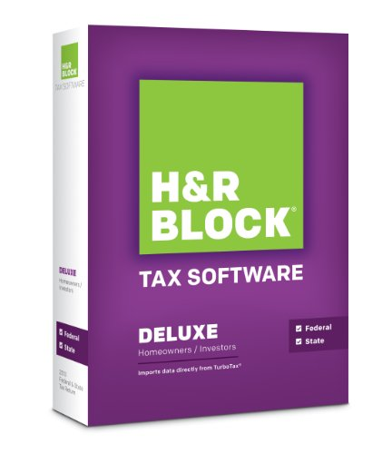 H&R Block Tax Software 2013 Deluxe + State [OLD - 2013 Block Tax H R Software