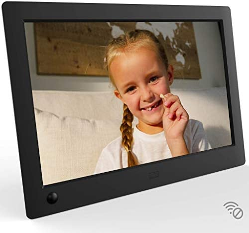 NIX Advance 8 Inch USB Digital Photo Frame Widescreen – HD IPS Display, Auto-rotate, Motion Sensor, Remote Control – Mix Photos and Videos in the Same Slideshow