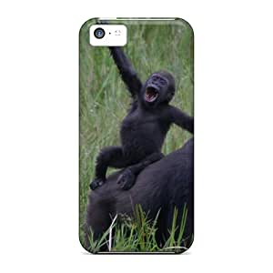 Shockproof/dirt-proof Funny Gorillas Covers Cases For Iphone(5c)