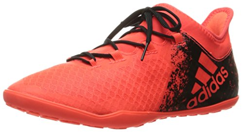 adidas Originals Men's X 16.2 Court Soccer Shoe, Solar Red/Black/Infrared, 12 M US (Webbed Court)