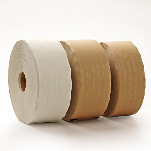 10ea - 3'' X 450' Pm White Heavy Duty Fiber Rnfrcd Tape by Paper Mart