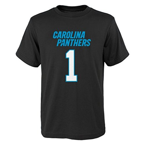 NFL Carolina Panthers Cam Newton # 29 Youth Boys 8-20 Name & Number Short Sleeve Tee, X-Large (18), Black
