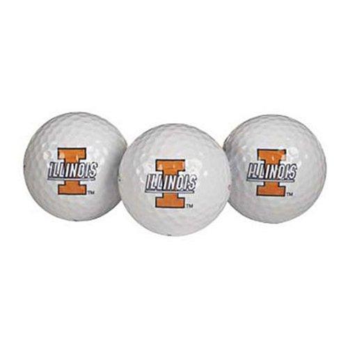 Team Effort Illinois Fighting Illini Golf Ball Pack of 3