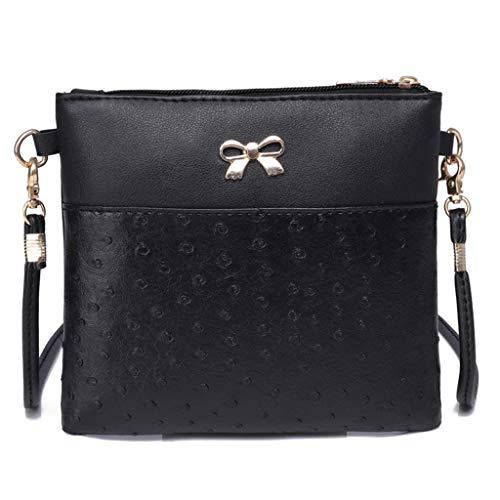 Women Bow Decoration Crossbody Bag Hit Color Shoulder Bags Messenger Bag by VEZAD (Image #6)