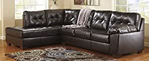 20101-16-67 Alliston Sectional Sofa with Left Arm Facing Corner Chaise and Right Arm Facing Sofa in Chocolate