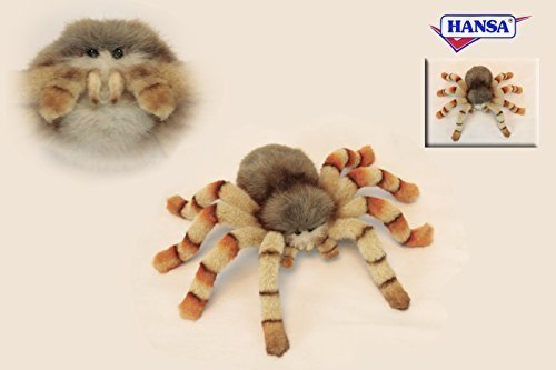 Jumping Spider Plush Soft Toy by Hansa. 29cm. 6556 by Hansa