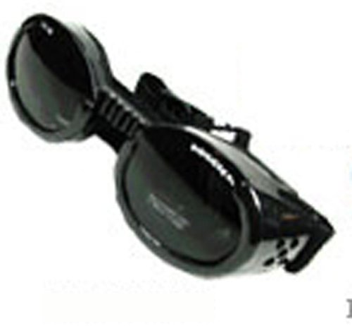Doggles ILS Extra Small Metallic Black Frame and Smoke Lens, My Pet Supplies