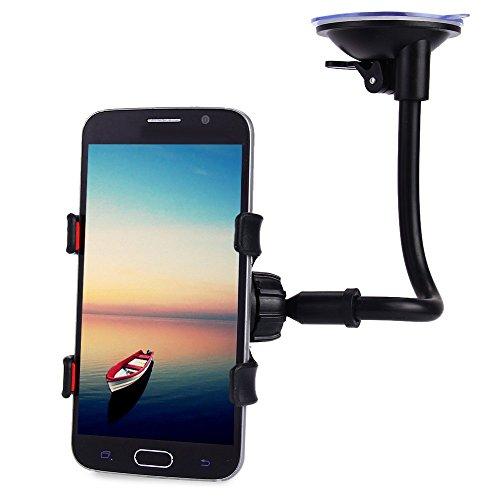 GOODTAKE 1Mobile Phone Car Mount Bracket Holder Stand 360 Degrees Rotation Universal Cars Windshield Long Arm Smartphone Cars Holder
