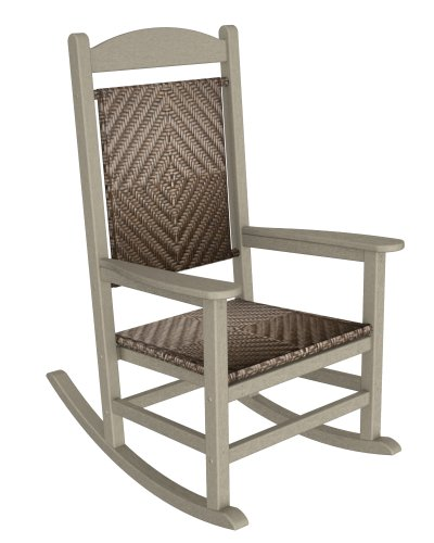 POLYWOOD R200FSAWL Rocking Chairs, Sand Frame/White Loom For Sale