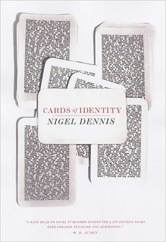 Cards of Identity (British Literature) (British Literature Series)