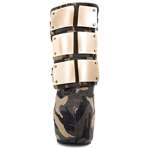 botas banquetes botón otoño de 35 alto tacón invierno Zapatos de 0705FD PU metal A para Botas A salones 41 de impermeable Artificial Lady de xfOtw8x