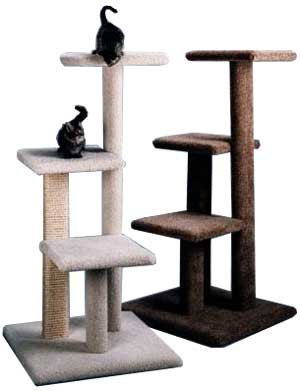 Tiered Cat Tree : Color SPECKLED SAND : Leg Covering 1 SISAL LEG : Size 49 INCHES (Cat Tiered Tree)
