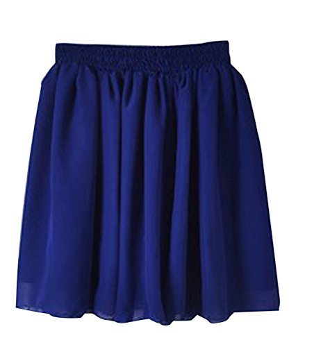 YouPue Femme Rtro lgante Minijupe Hippie Jupe Plisse Short Jupe Court Taille Unique Saphir