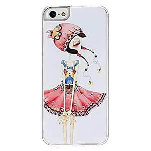 GJYColorful Skirt Girl Pattern Hard Case for iPhone 5/5S