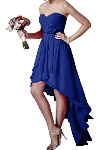 ivyd ressing Donna Hi-Lo a forma di cuore fiori Chiffon abito del partito Prom abito Fest vestito abito da sera blu royal 44