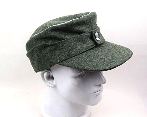 Replica WWII German Officer M43 WH EM field Panzer Wool Cap Hat Green (M(57cm))