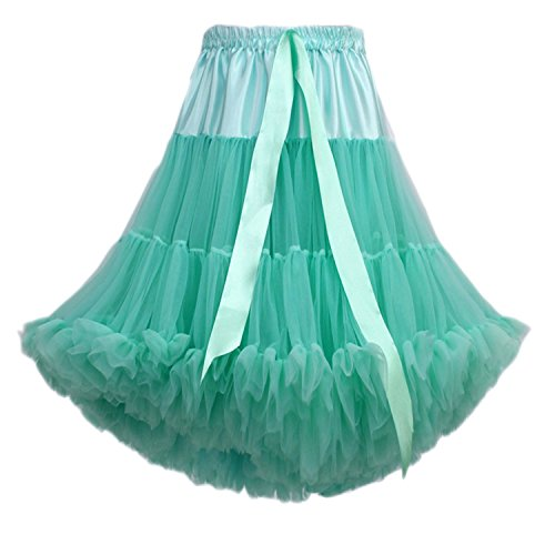 ballet multicouche adulte Lightgreen soie Tutu de Tulle tutu femmes FOLOBE luxueux bouffante jupe danse de mousseline jupe Petticoat de en Costume mousseline en pgUqwH