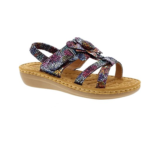 Floral Red Drifter Navy Heavenly Sandals 2 Feet wtzggI