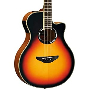 yamaha apx500iii vs thinline acoustic electric cutaway guitar vintage sunburst. Black Bedroom Furniture Sets. Home Design Ideas