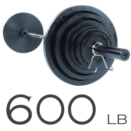 Body-Solid Power Rack GPR378 with 600lb. Olympic Weight Set
