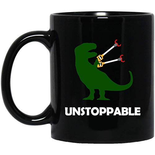 T rex unstoppable hand claws - funny mug, gifts for him, meme mug1]()