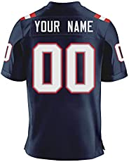 Custom Mesh Football Stitched Jersey Athlete's Shirt Personalize Team Name and Number for Men/Women/Youth