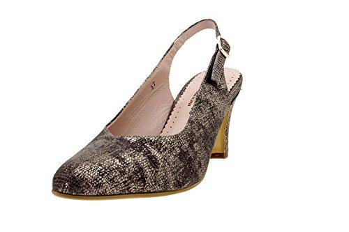 Calzado mujer confort de piel Piesanto 8210 salón fiesta zapato cómodo ancho Visón