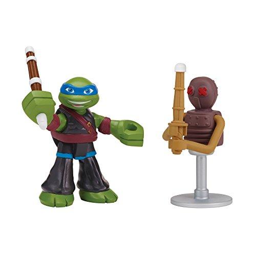 - Teenage Mutant Ninja Turtles 96113 Pre-Cool Half Shell Heroes Dojo Leo with Foot Soldier Dummy Action Figure