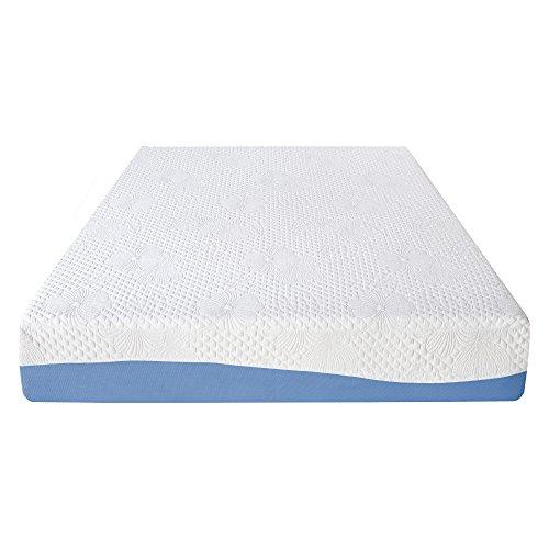 Olee Sleep 10 Inch Gel Infused Layer Top Memory Foam Mattress Blue (Full) 10FM01F