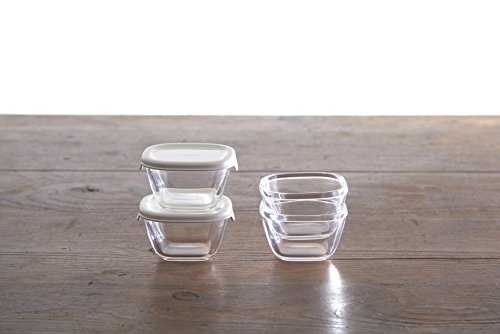 HARIO Heat Resistant Glass Storage Containers-Set of 3 SYTN-2518-OW From Japan
