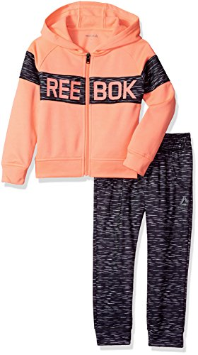 Reebok Little Girls' 3 Piece Atletic Set, 3032-Hot Coral, 6X