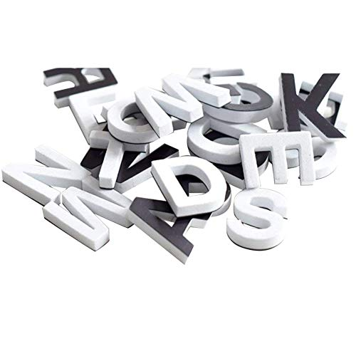 Lzttyee Decorative 120pcs/1 Set Magnetic EVA Alphabet Letters for Refrigerator/White Board (White)