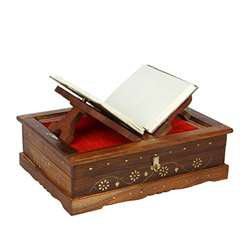 Regal Wooden Folding Reading Bible Holy Book Stand Holder Home Decorative