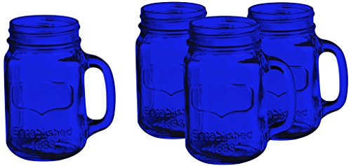 Colored Yorkshire Mason Jar Mug Set of 4 17.5 oz. - Full Col